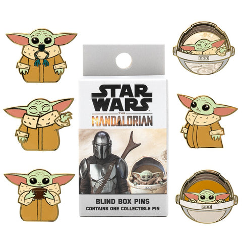 LOUNGEFLY X STAR WARS MANDALORIAN CHILD BLIND BOX PINS - Spell Boutique