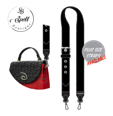 LOUNGEFLY LF BASIC BLACK BAG STRAP REG & PLUS SIZE AVAILABLE (Feb pre-order)