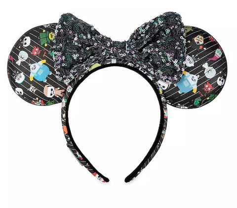 LOUNGEFLY THE NIGHTMARE BEFORE CHRISTMAS CHIBI AOP EARS HEADBAND - Spell Boutique