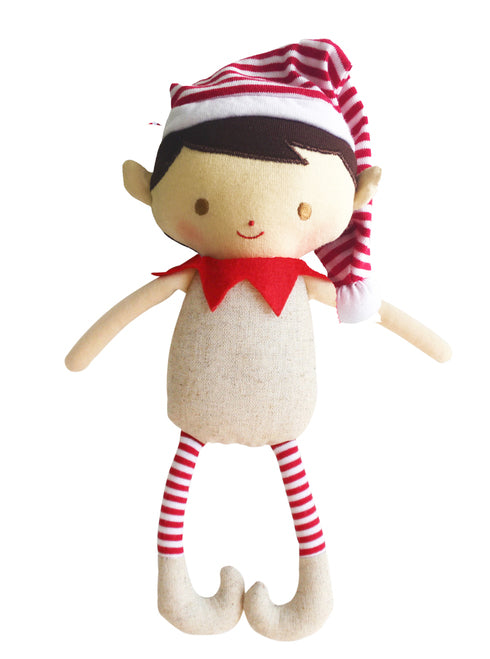 Christmas Rattle | Linen Elf Boy