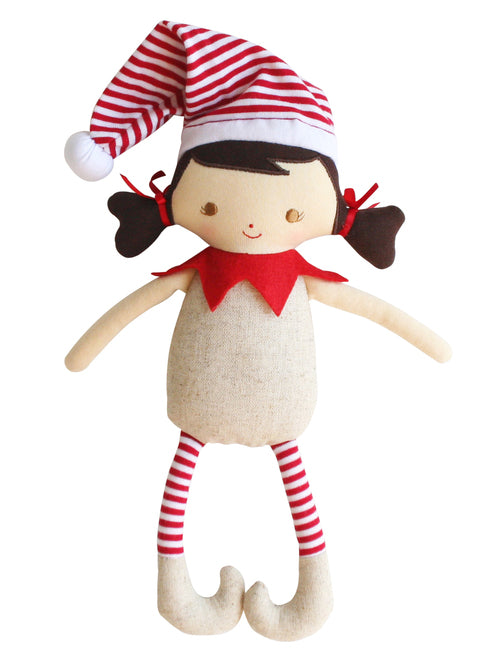 Christmas Rattle | Linen Elf Girl