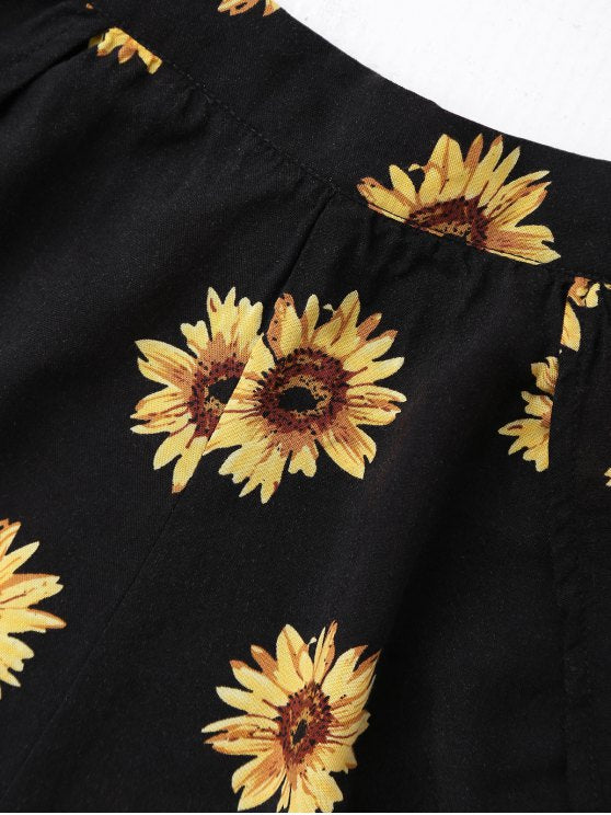 Off Shoulder Sunflower Set