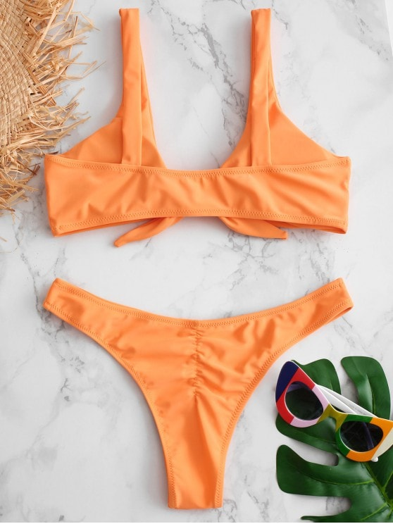 Mango Knotted Thong Bikini Set