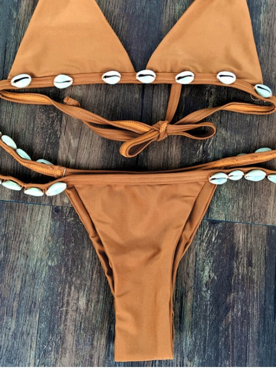Shelled String Bikini Set