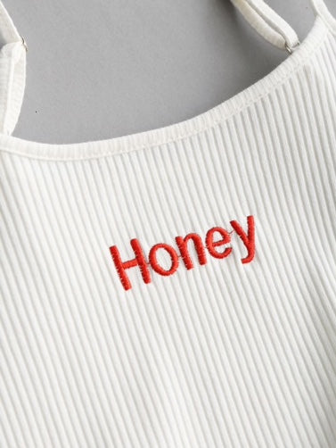 Honey Embroidered Tank Top