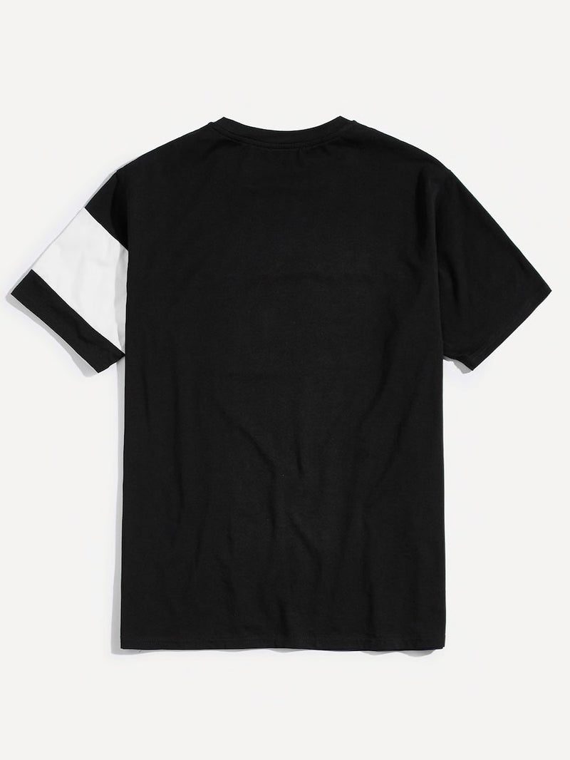 Men Cut And Sew Short Sleeve Tee