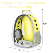 Load image into Gallery viewer, CAT BUBBLE BACKPACK WITH CLEAR WINDOW FOR HIKING