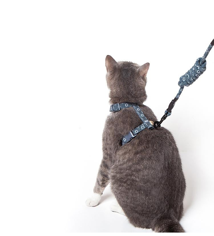 ADJUSTABLE CAT HARNESS & LEASH SET