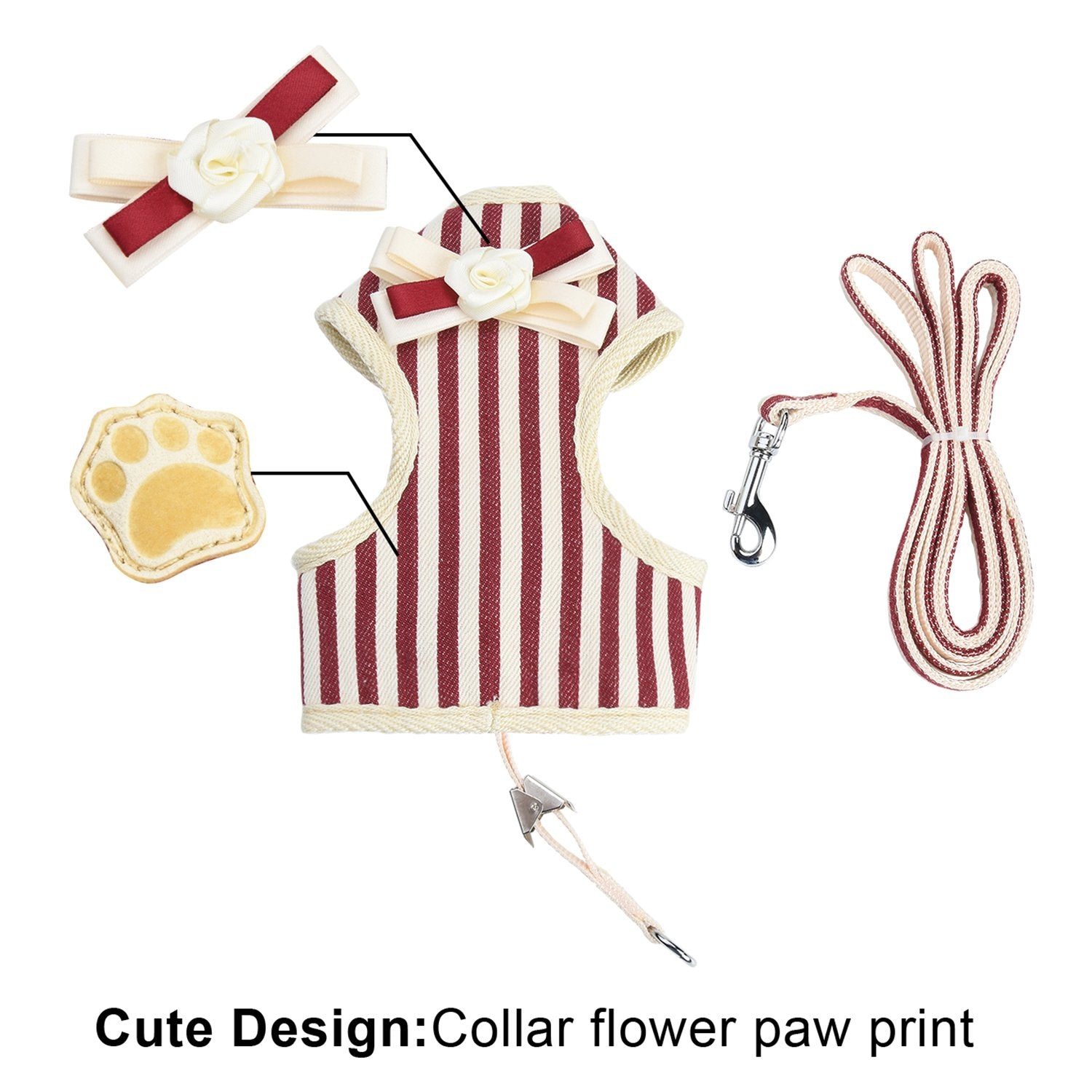 CAT HARNESS WITH PADDED VEST