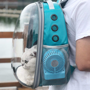 PET AIR CONDITIONER, RECHARGEABLE VIA USB, MINI FAN USE WITH BACKPACK