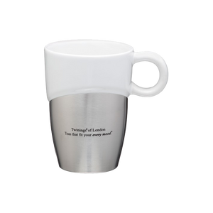 Double Dipper Ceramic Mug w/ Stainless Base 11oz