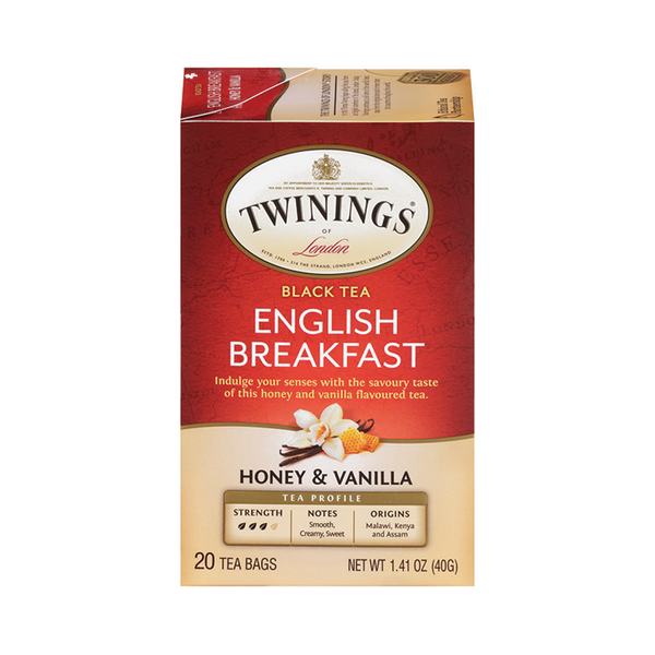 English Breakfast - Honey & Vanilla