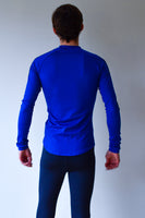 JL Tech Shirt lange mouwen - unisex - royal blue/zwart