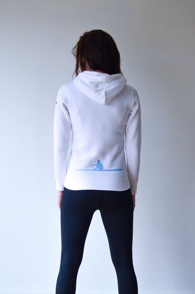 Hooded sweater wit  - dames