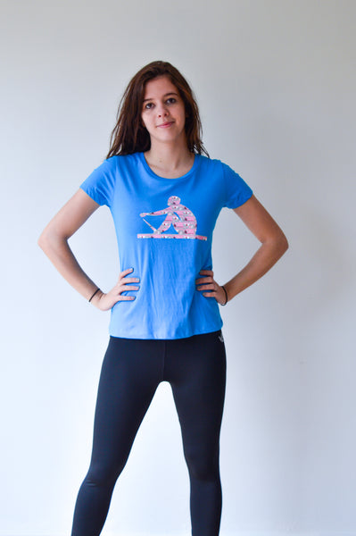 T-shirt TEBO ROWER - blauw/pink - dames