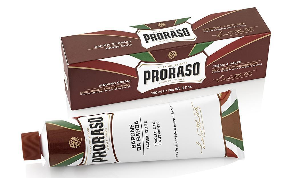 Proraso Shaving Cream Tube Sandalwood & Shea Butter 150ml