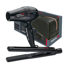 Load image into Gallery viewer, BaByliss PRO Bambino Dryer & Ceramic Straightener Travel Set