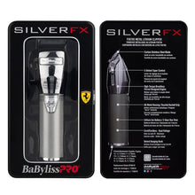 Load image into Gallery viewer, BaByliss PRO Silver FX Lithium Hair Clipper