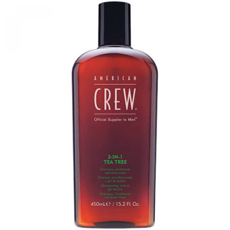 American Crew 3-IN-1 Tea Tree Shampoo Conditioner Body Wash 450ML