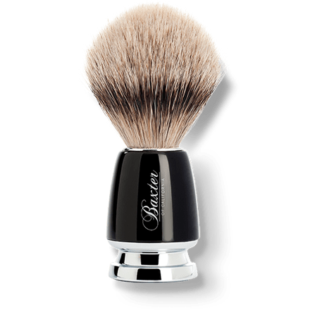 Baxter of California Black Silver Tip Badger Hair Shave Brush