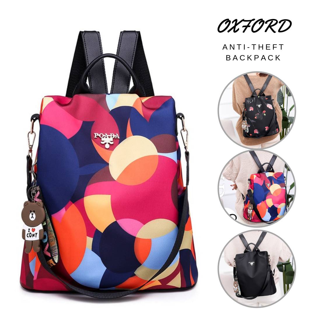 Oxford Designer Printing Anti-Theft Backpack