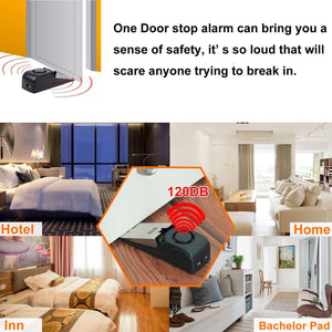 Door Stop Alarm with 120DB Siren Door Stop for Home & Travel