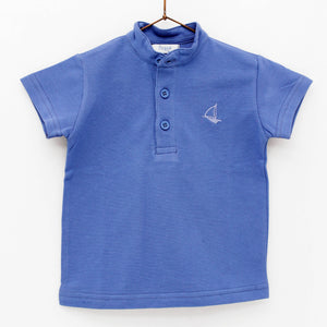 Blue Polo Top 6406-AZ