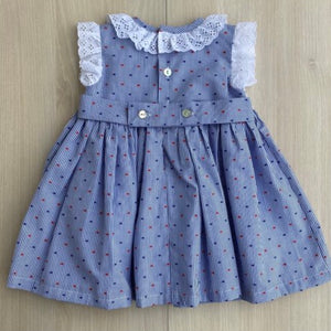 BL21-10 Blue Smock Dress