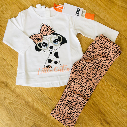 Pink Puppy Legging Set