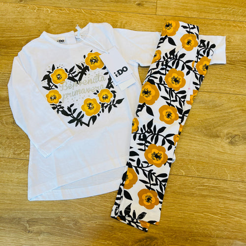 Orange Floral Legging Set