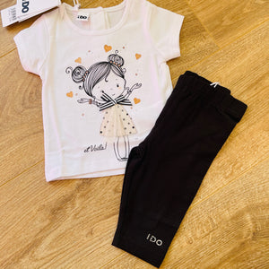 Hearts & Lady 3/4 Legging Set