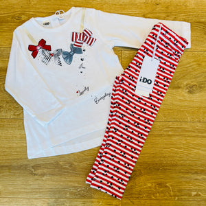 Red Bows Legging Set