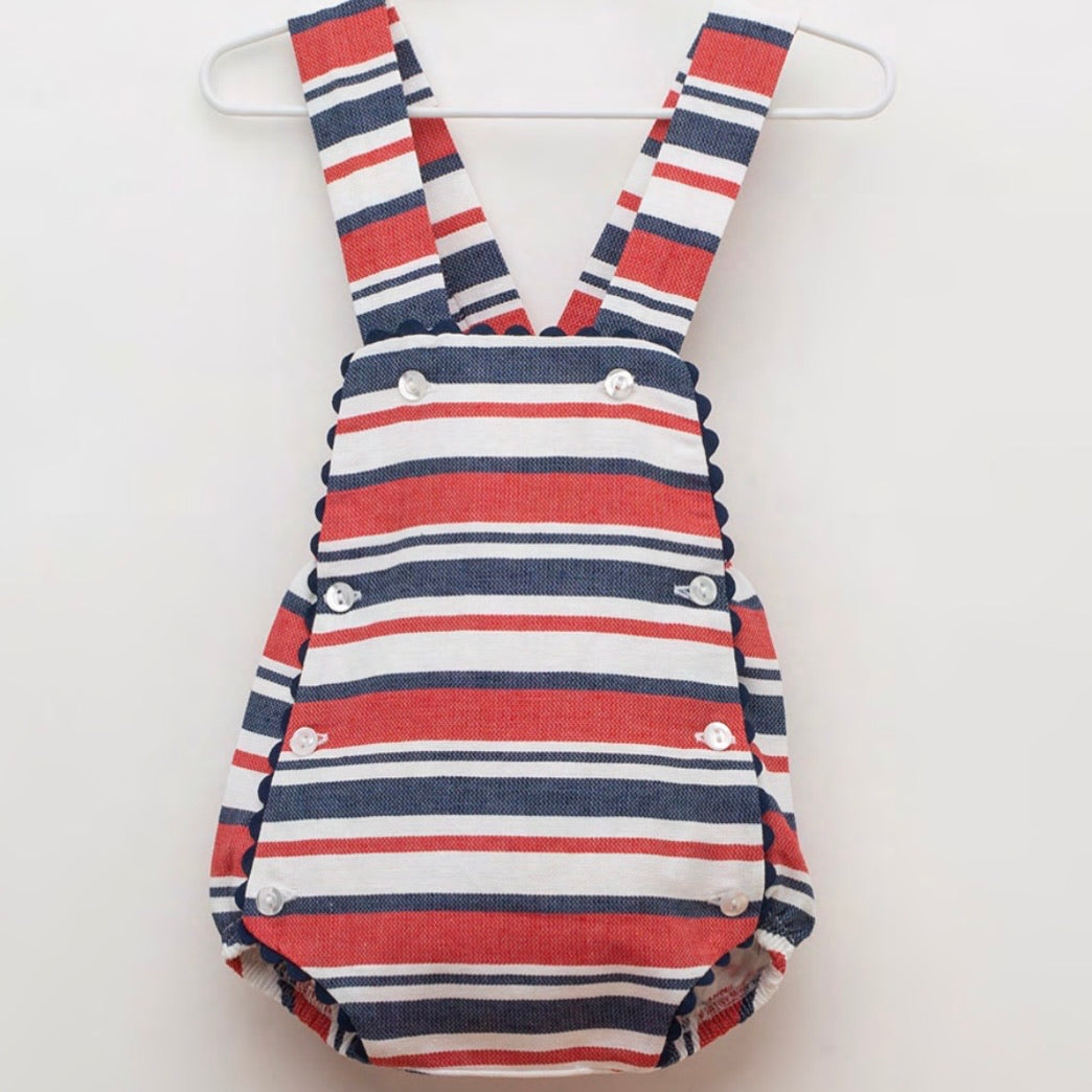 Candy Stripe Romper J3138