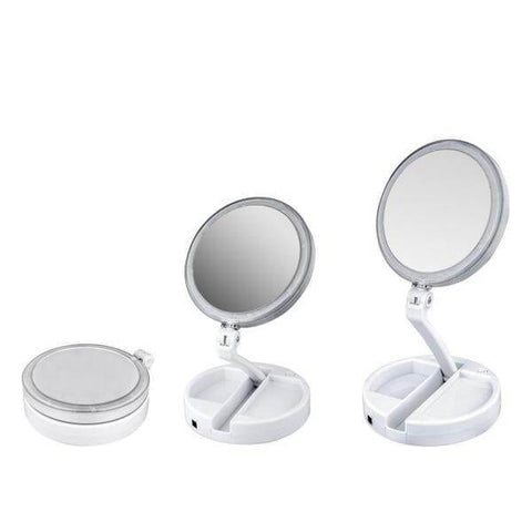 Image of Foldable LED Cosmetic Mirror