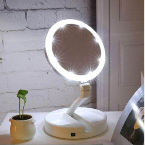 Foldable LED Cosmetic Mirror