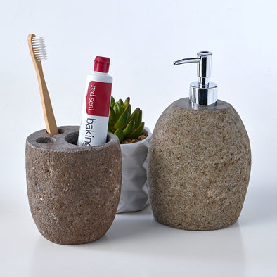 Luxury2 Piece Raw Stone Bathroom Set
