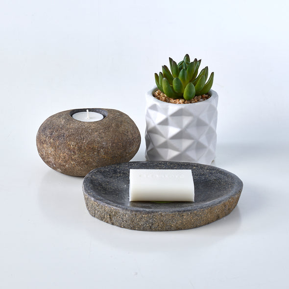 Luxury 2 Piece Raw Stone Bathroom Set