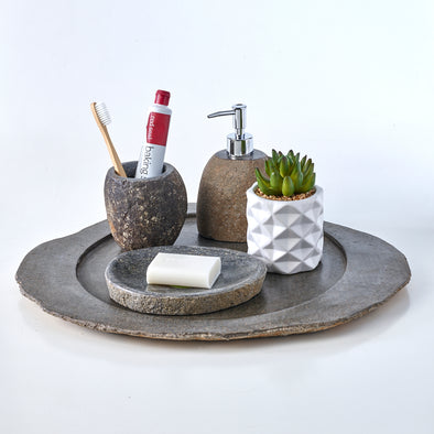 Luxury 4 Piece Raw Stone Bathroom Set (A)
