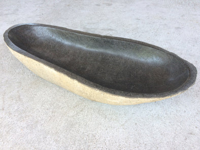 Giant Natural Stone Bowl (154) 90cm x 36cm-StoneBase