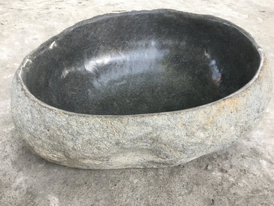 Giant Natural Stone Carved Bowl 69cm's x 55cm's (FB2)-StoneBase