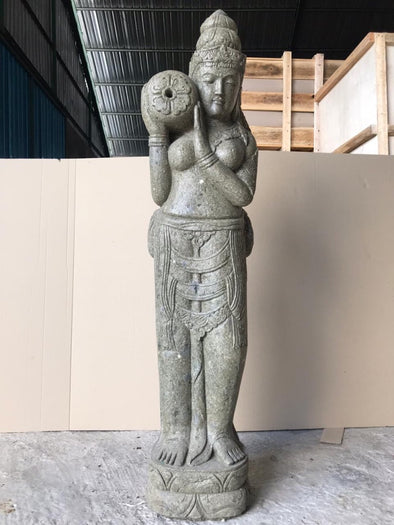 Buy Bali Statue With Water Feature | Hand Carved Stone | 180cm | Stone Base (762)
