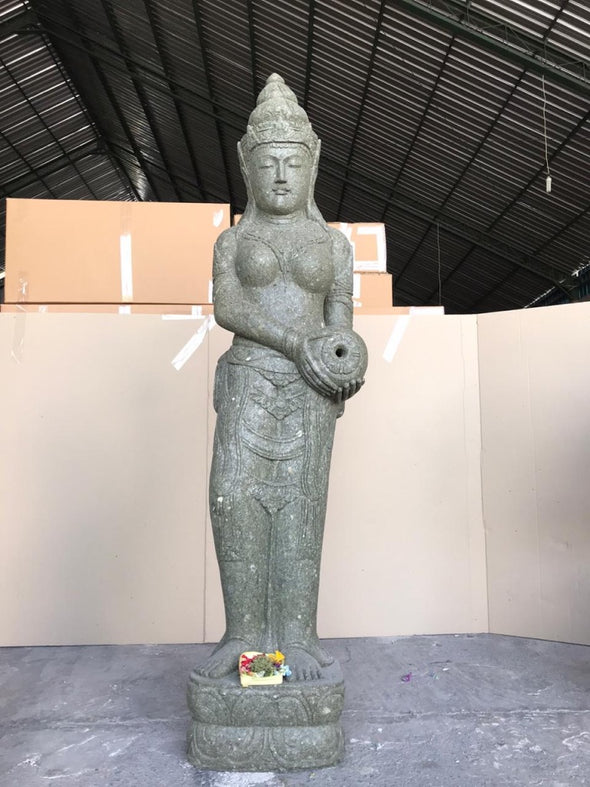 Buy Bali Statue With Water Feature | Hand Carved Stone | 200cm | Stone Base (763)