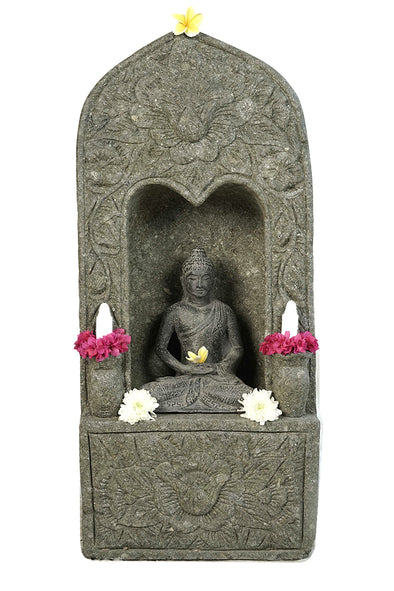 Buy Bali Statue | Buddha | Shrine | Hand Carved Stone | 102cm | Stone Base (771)