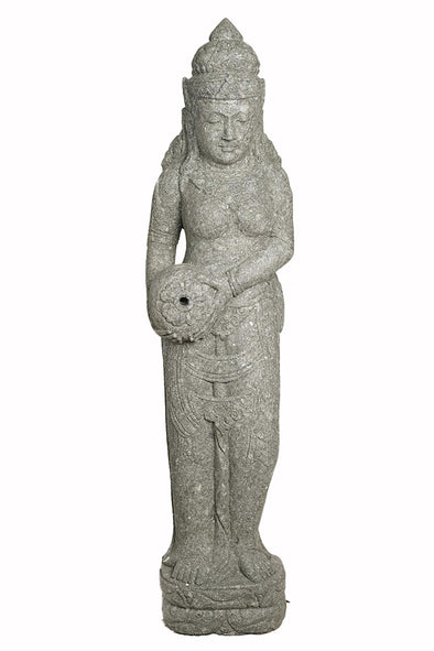 Buy Bali Statue With Water Feature | Hand Carved Stone | 155cm | Stone Base (799)