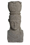 Buy Bali Statue With Pot Planter | Hand Carved Stone | 101.5cm | Stone Base (816)