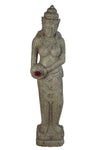 Buy Bali Statue With Water Feature | Hand Carved Stone | 200cm | Stone Base (820)