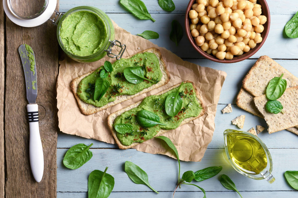 Basil, Lemon and Sea Greens Protein Hummus | Earthproof Protein