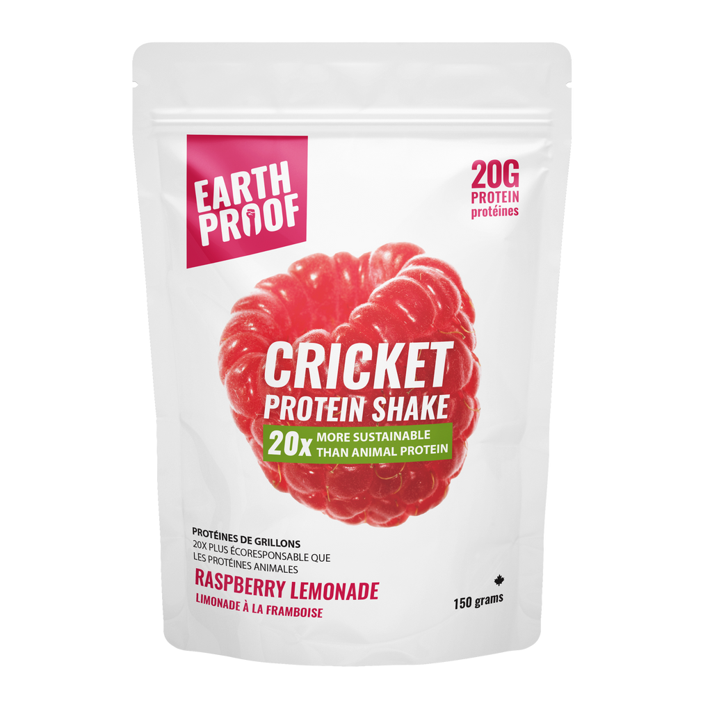 Raspberry-Lemonade Cricket Protein Powder - Earthproof Protein