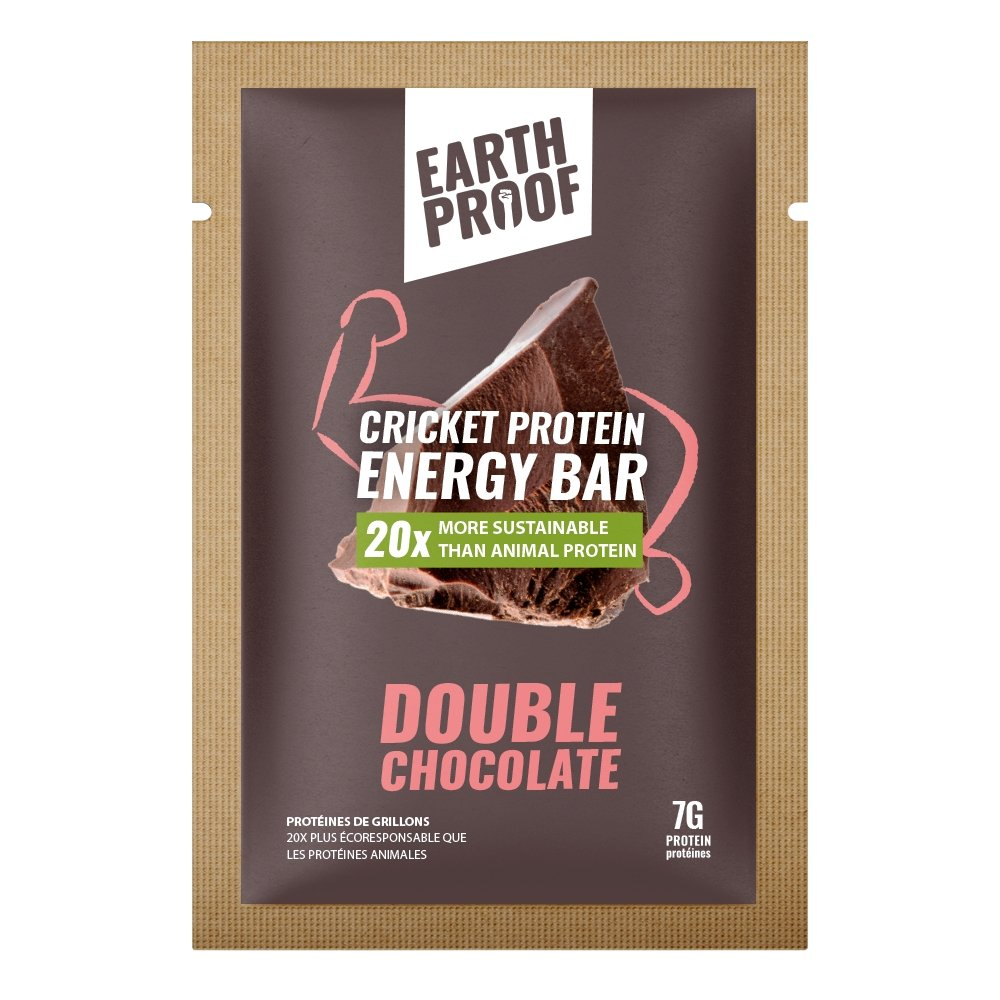 Double Chocolate Cricket Energy Bar - 12 pack - gubgub foods