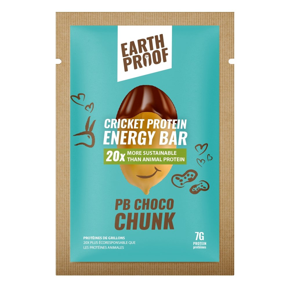 PB Choco Chunk Cricket Protein Energy Bar - 12 pack - gubgub foods